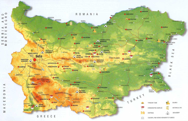 Harta Litoral Bulgaria Harta Statiuni Bulgaria Harti